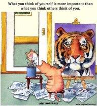 tiger self portrait