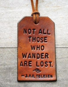 jrr tolkein quote luggage tag
