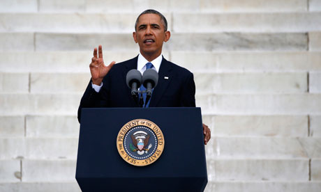 Obama speaks during a ceremony marking the 50th anniversary